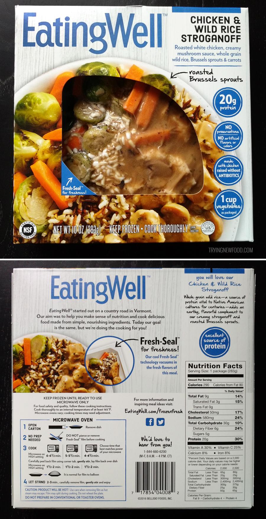 EatingWell Chicken & Wild Rice Stroganoff packaging