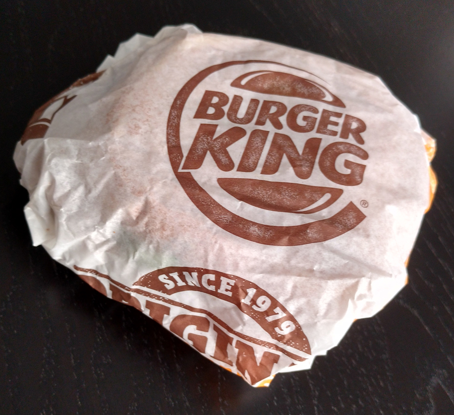 Burger King Crispy Chicken Sandwich wrapper
