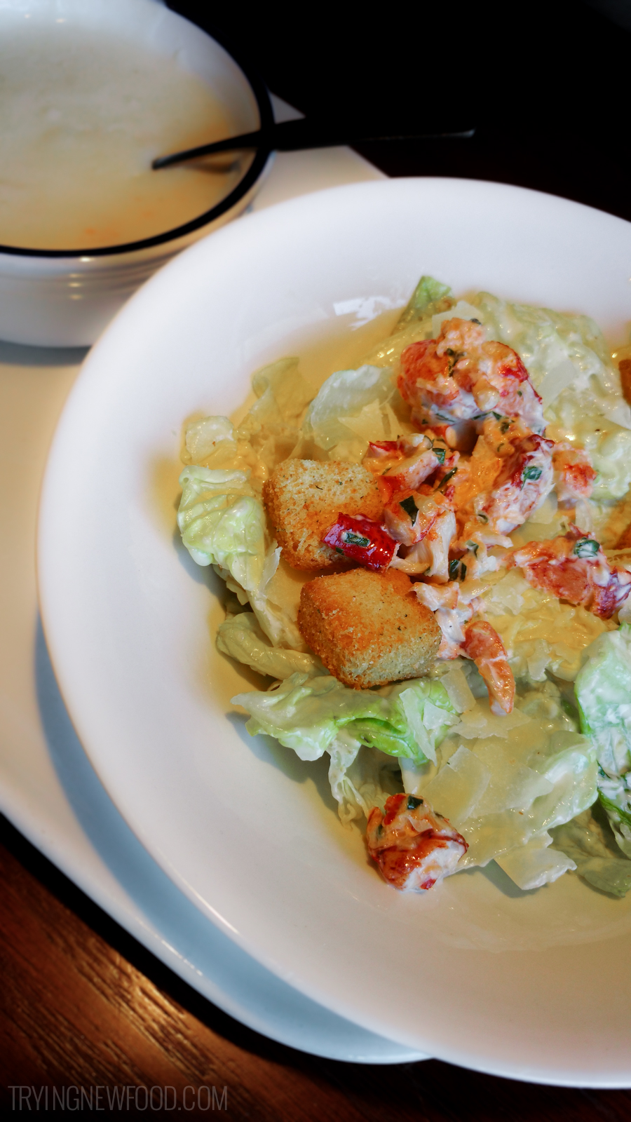 Red Lobster Lunch Special Lobster Roll, Lobster-Topped Caesar Salad and Lobster-and-Langostino ...