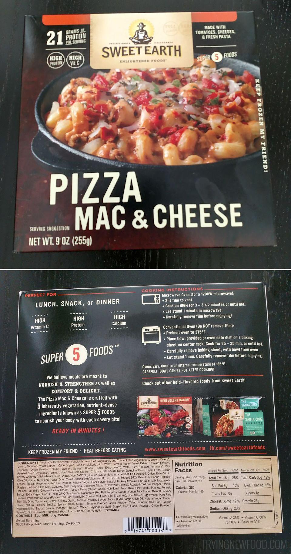 Sweet Earth Pizza Mac & Cheese