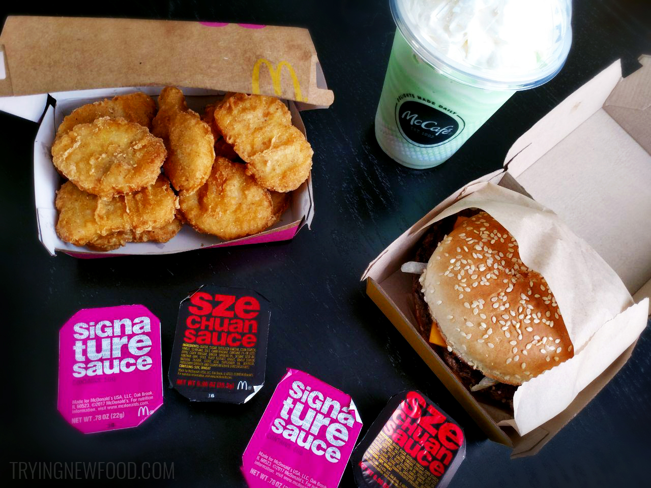 McDonald's Szechuan Sauce, Quarter Pounder and Shamrock Shake