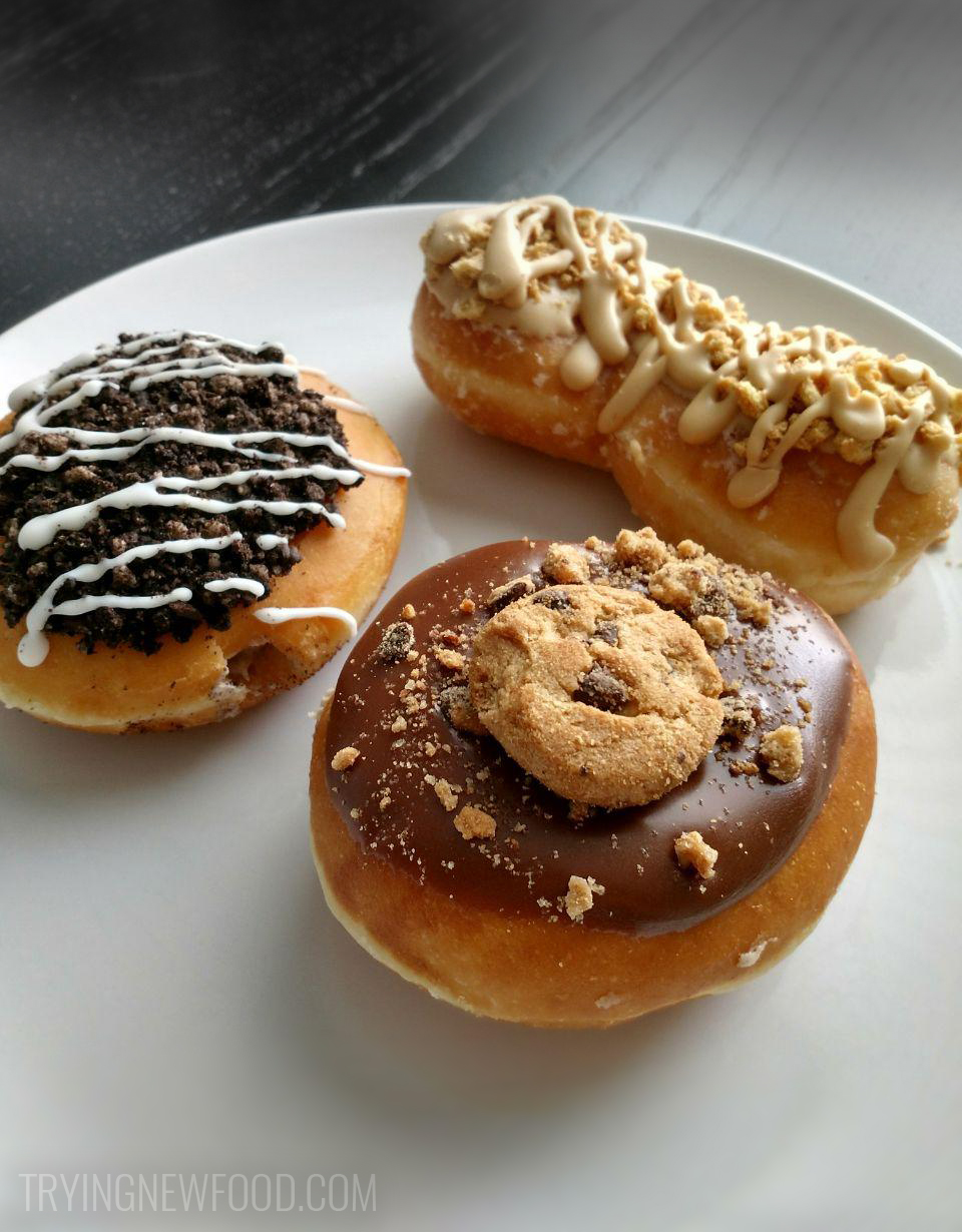 Krispy Kreme Nutter Butter, Chips Ahoy! and Oreo Donuts